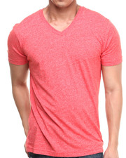 T-Shirts - Mock Twist V-Neck Tee