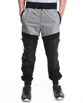 Double Needle - Mr. Sinister Vegan Leather Leg Pant