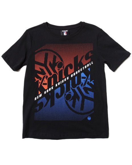 NBA MLB NFL Gear Boys Black New York Knicks Crossfade Tee (8-20)