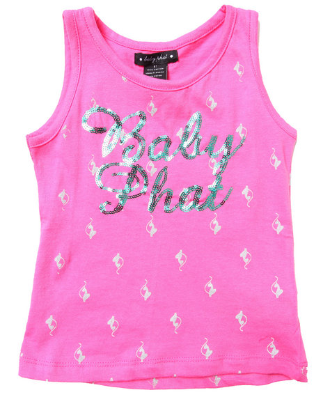 Baby Phat - ALL-OVER KITTY TANK (2T-4T)