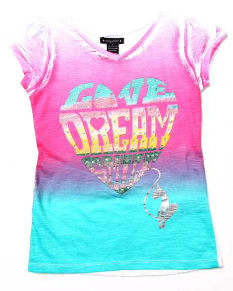 Baby Phat Girls White Love Dream Ombre Tee (7-16)