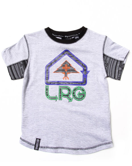 Lrg - Boys Light Grey Ndebele S/S Tee (4-7)