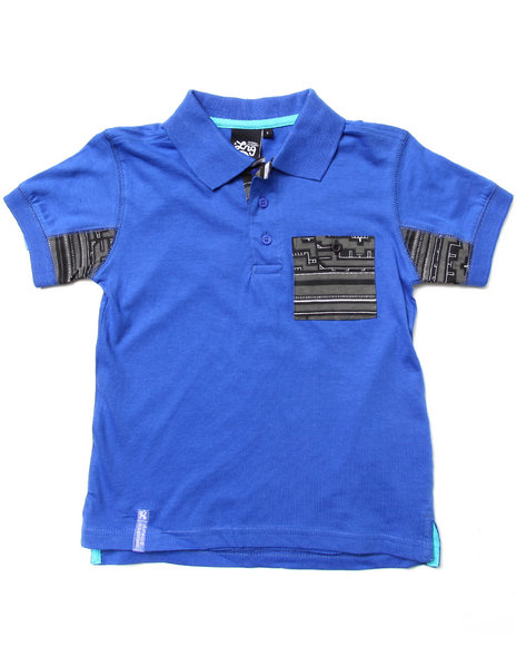 LRG Boys Blue Ndebele Polo (4-7)