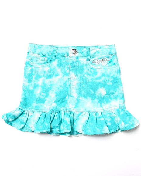 Baby Phat - Girls Teal Tie Dye Print Skirt (7-16)