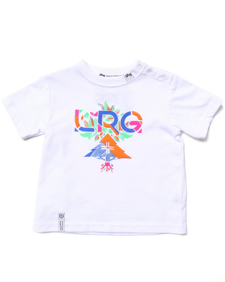 Lrg - Boys White Floral Geo Tee (Infant)