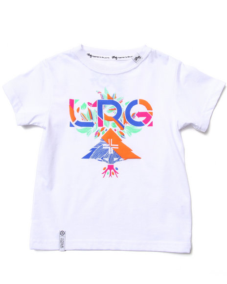 LRG Boys White Floral Geo Tee (2T-4T)