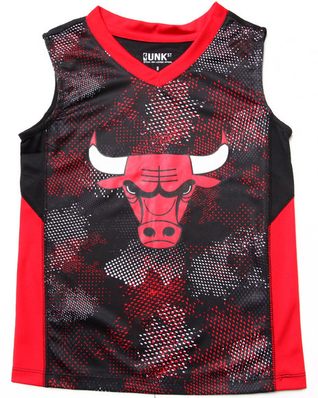 NBA MLB NFL Gear Boys Red Chicago Bulls Digi Camo Tank (8-20)