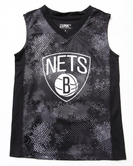 NBA MLB NFL Gear Boys Black Brooklyn Nets Digi Camo Tank (8-20)