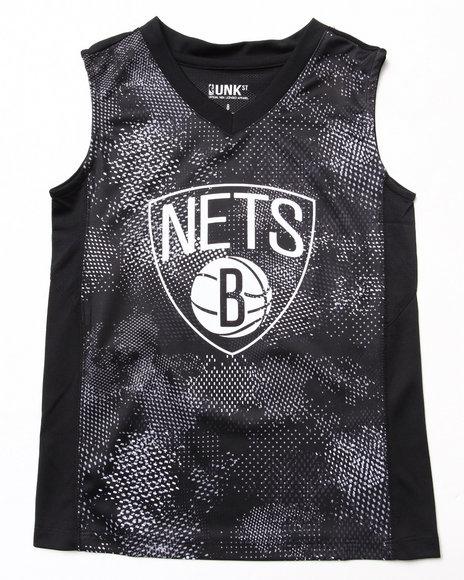 NBA MLB NFL Gear Boys Black Brooklyn Nets Digi Camo Tank (8-20)