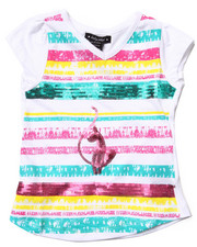 Baby Phat - SEQUIN STRIP TEE (4-6X)