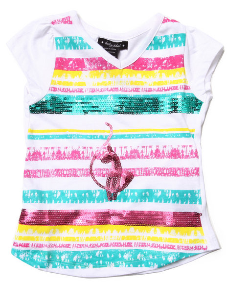 Baby Phat - Girls White Sequin Strip Tee (4-6X) - $11.99