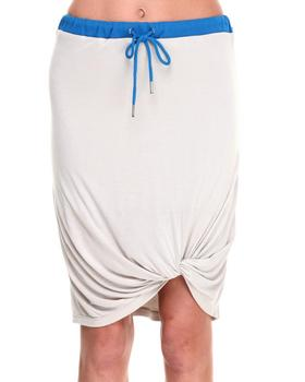 -FEATURES- - Ruched Jersey Skirt