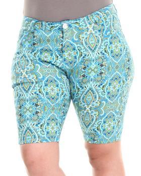 Fashion Lab - Paisley Park Bermuda Short (Plus)