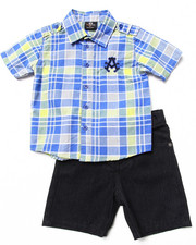 Akademiks - 2 PIECE SET - PLAID WOVEN & SHORTS (2T-4T)