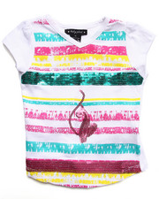 Girls - SEQUIN STRIP TEE (2T-4T)