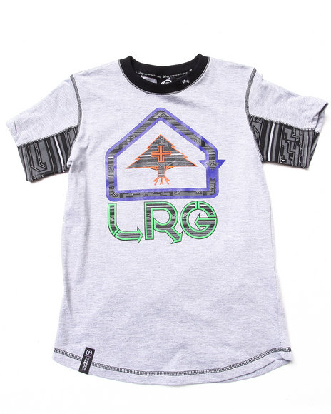 Lrg - Boys Light Grey Ndebele S/S Tee (8-20)