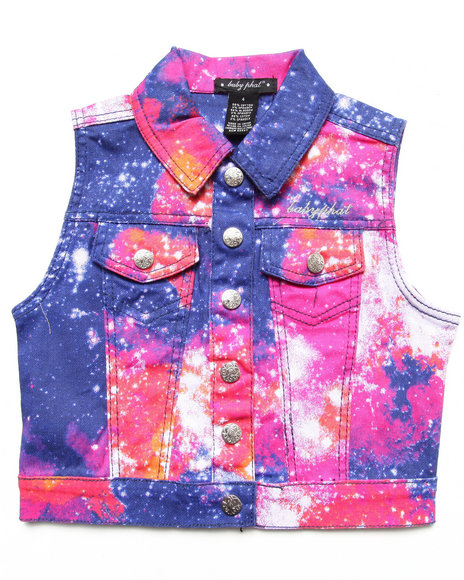 Baby Phat - Girls Multi Galaxy Print Vest (4-6X)