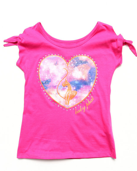 Baby Phat - Girls Pink Cold Shoulder Heart Top (7-16)
