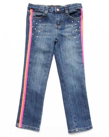 Baby Phat - Girls Light Wash Colorful Taped Jeans (4-6X) - $17.99