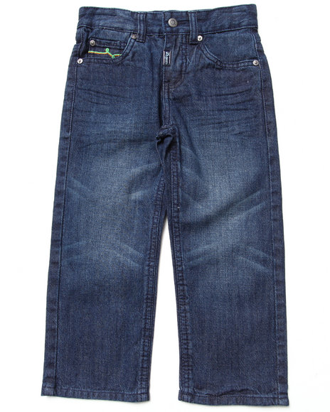 Lrg - Boys Dark Wash State Of The Art Straight Jeans (4-7)