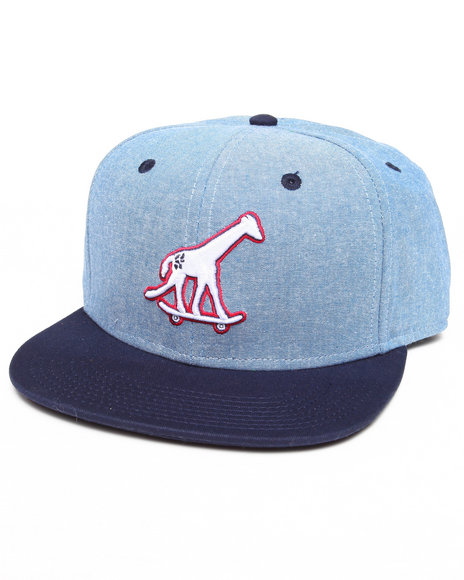 Lrg Men Skate Giraffe Chambray Strapback Hat Light Blue