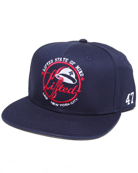 Lrg Men Lifted State Of Mind Twill Snapback Hat Navy