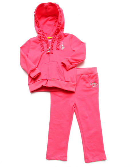 Baby Phat - Girls Pink 2 Piece French Terry Set (Infant)