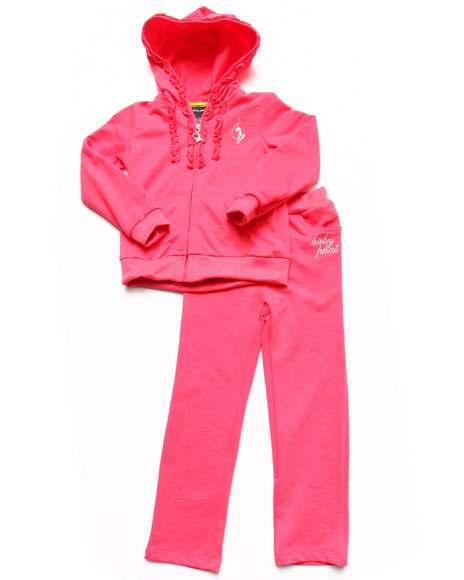 Baby Phat - Girls Pink 2 Piece French Terry Set (4-6X)