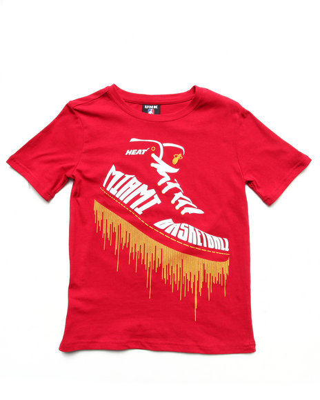 NBA MLB NFL Gear Boys Maroon Miami Heat Kicks Tee (8-20)