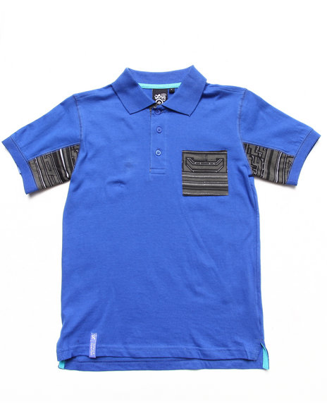 LRG Boys Blue Ndebele Polo (8-20)