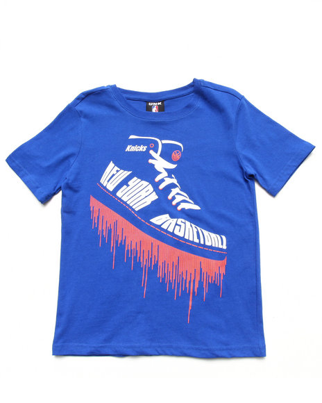 NBA MLB NFL Gear Boys Blue New York Knicks Kicks Tee (8-20)