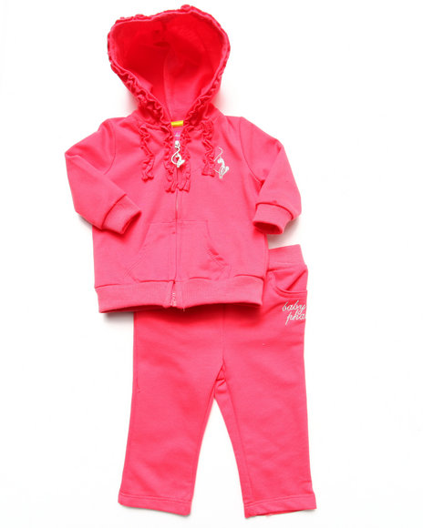 Baby Phat - Girls Pink 2 Piece French Terry Set (Newborn)