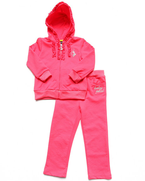 Baby Phat - Girls Pink 2 Pc French Terry Set (2T-4T)