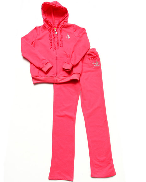 Baby Phat - Girls Pink 2 Pc French Terry Set (7-16)
