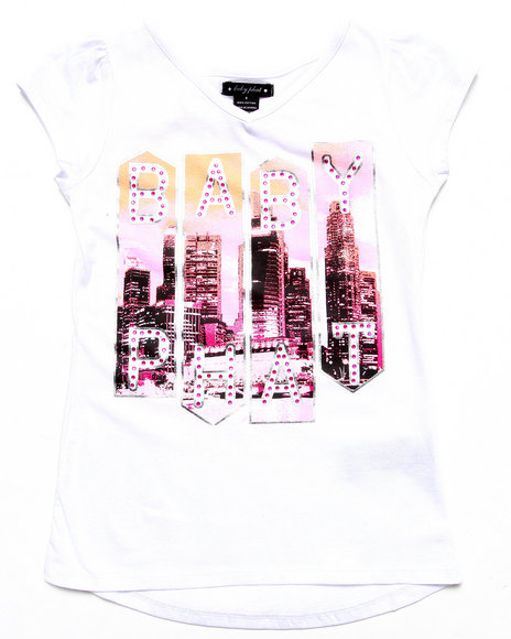 Baby Phat - Girls White Baby Phat City Tee (7-16) - $13.99
