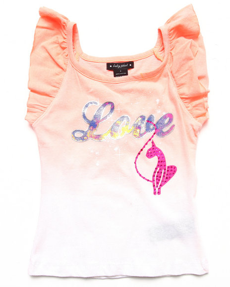 Baby Phat - Girls Orange Dip Dye Tank (4-6X)