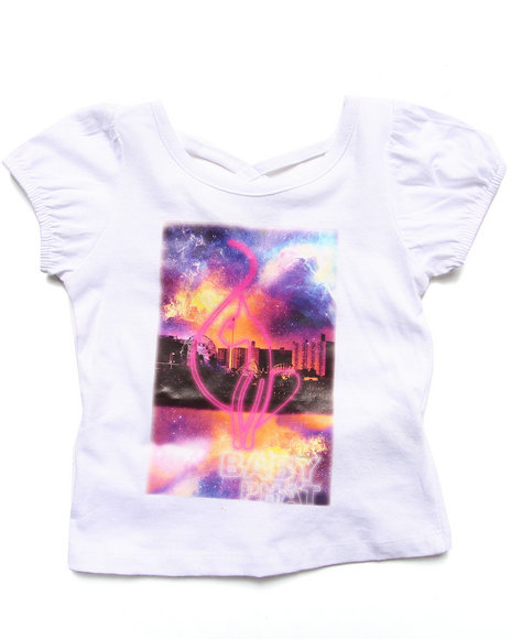 Baby Phat - Girls White Galaxy Tee (2T-4T) - $5.99