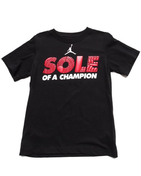 Air Jordan Boys Black Sole Of A Champion Tee (8-20)