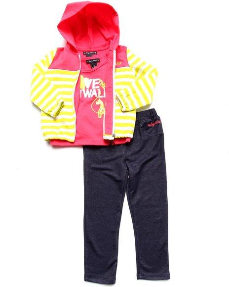Baby Phat Girls Dark Wash 3 Pc Set Jacket, Tee, & Pants (2T-4T)