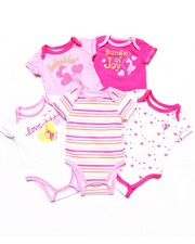 Girls - 5 PACK BODYSUITS SET (NEWBORN)