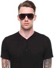 Men - Mensa - Black Aviator Sunglasses