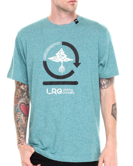 Lrg - Men Teal Core Collection Three S/S Tee