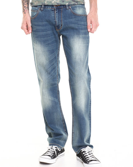 LRG - Men Medium Wash Core Collection True - Straight Denim Jeans
