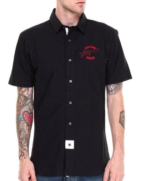 Pelle Pelle Black Patch Button Down Shirt
