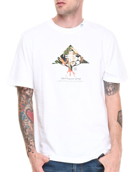 Lrg - Men White Lion Tree S/S Tee - $17.99