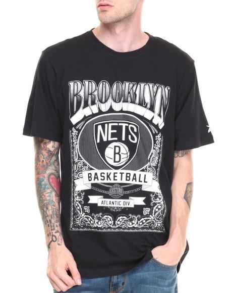 Nba, Mlb, Nfl Gear - Men Black Brooklyn Nets Raiders Tee