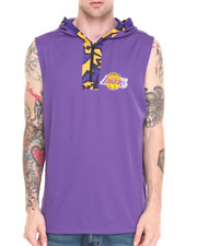 Men - Los Angeles Lakers Dino Hooded Muscle Pullover