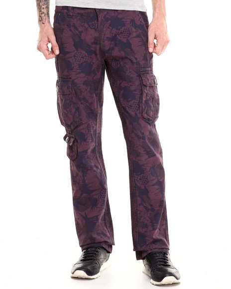 Darring - Men Maroon Diablo Over-Dyed Camo Pant