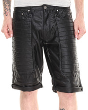 Winchester - All Over Faux Leather Quilted short