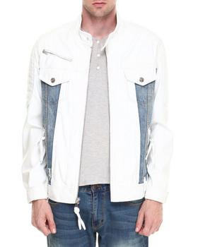 Winchester - Texas White/denim faux leather Jacket